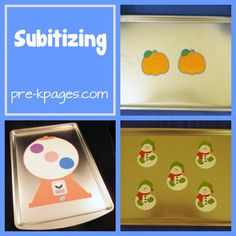 what is subitizing and ideas for teaching this math skill in #preschool or #kindergarten via www.pre-kpages.com