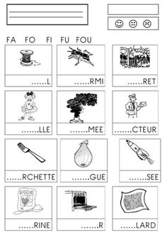 Syllabes avec f