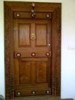 Home Main Door Design Photos - Cleverkina Indian Main Door Designs, Single Main Door Designs, House Main Door Design, Wooden Front Door Design, Main Entrance Door Design, Door Design Interior, Wooden Front Doors, Interior Doors, Entrance Doors