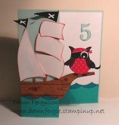Issys Pirate card  by Dawn Ferguson (Australia)
