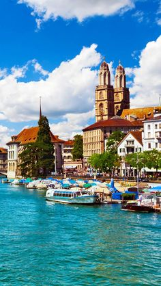Switzerland Travel Inspiration - Beautiful view of Zurich and Limmat river, Switzerland |See why Switzerland is the Country where Splendor seems to be Endless