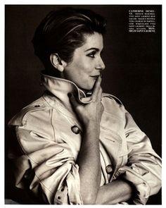 Photo by Steven Meisel 1993 Catherine Deneuve Vogue Italia, marzo 1993