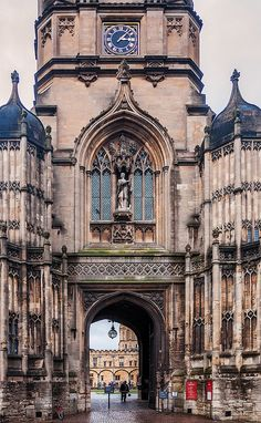 The Gothic entrance to the Tom Quad in Oxford, England