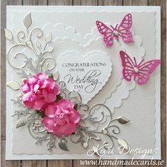 handmade wedding pinterest | Handmade Wedding Wishes Card