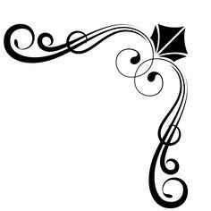 Esquina, Marco, Divisor, Florales, Art Deco, Formal