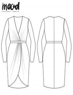The Xeranthemum Dress - Free Sewing Pattern - Mood Sewciety Sewing Patterns Free, Free Sewing, Clothing Patterns, Free Pattern, Dress Pattern Free, Pattern Sewing, Sewing Diy, Diy Clothing, Sewing Ideas