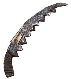 Gruesome weapons right out of a horror movie! These weapons may look dangerous, but are in fact harmless plastic with a used and abused look. Each weapon or tool has a rusted metal look and worn handl
