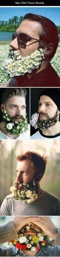Baard en bloemen