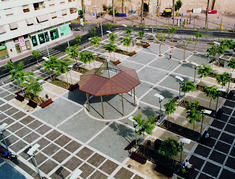 This is a new and curios point of view of Gris Pulpis marble on Plaza de la Glorieta in Santa Pola (Alicante, Spain), a charming place on The Costa Blanca.