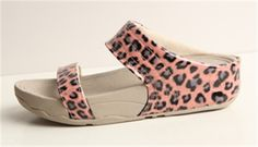 Discount Walkstar Slide Slippers Fitflop Leopard Pink