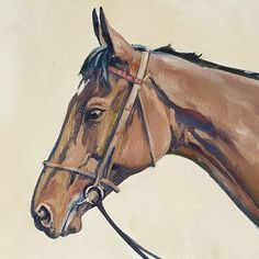 A small study of Treve... painted  a couple of years ago after she failed to defend her record at the Arc to Golden Horn! Such a gallent little mare! #treve #prixdelearc #goldenhorn #thoroughbred #oilsketch #equineart #sportingart #osg #osbornestudiogallery #oilonpaper #paris