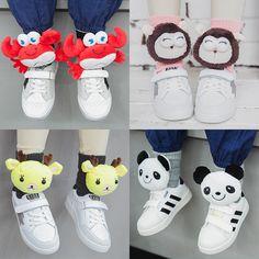 2016  New Arrival 10 Style Cute Cartoon Plush Toys  Baby Socks  Animals  Doll Infant Socks Anti-Slip Boys Girls Socks Kids Socks