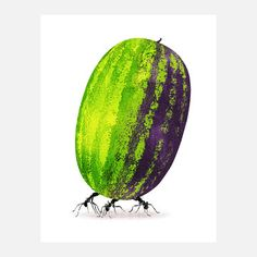 Brooklyn-based illustrator Daniel Horowitz's Watermelon shows strength and fortitude as being instrumental to survival—on a slightly sweeter scale.