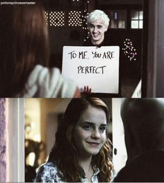 Adorable. I love Ron and Hermione, but Draco and Hermione being together is just a little guilty pleasure.