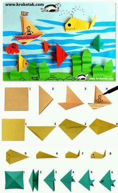 Peces en origami