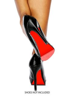 Colored Shoe Sole Kit - DIY Red Bottom - Slip Resistant Shoe Bottom Cover for Women's Heels - 13 Colors Available