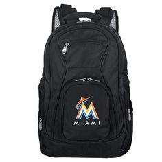 MLB Miami Marlins Premium Laptop Backpack