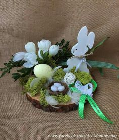 Pin by Kerstin Wreth on osterdeko Easter Tree, Easter Wreaths, Easter Projects, Easter Crafts, Easter Table Decorations, Diy Decoration, Deco Nature, Easter Season, Hoppy Easter