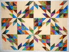 Scrappy Hunter's Star Quilt.