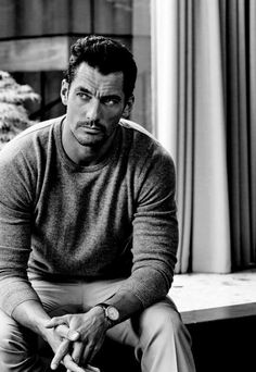 Waiting at the hospital with Sarah and the girls. (David Gandy for Marks and Spencer's Autumn 2016 campaign) David Gandy Style, David James Gandy, Hugo Boss, Black Dagger Brotherhood, Men Photoshoot, Fashion Mode, Male Fashion, Male Poses, Gentleman Style