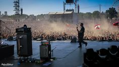 Jeff Waters of Annihilator onstage at Hellfest 2014 with the Hughes & Kettner GrandMeister!