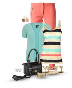 """Outfit of the Day: """"Black Stripe"""" Made with ♥ by Maggie Bags on #Polyvore #MaggieBags #handbags #purses #fashion #ootd"""
