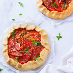 Pastry dough and tomato come together for an excellent fresh dish!