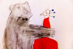 *In het atelier Pauw en beer gaan trouwen