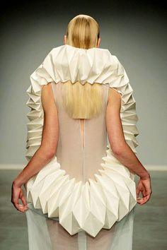 Wearable Sculpture - fashion architecture; 3d patterned structure