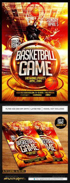 Flyer Basketball Game Night Game night, Flyer template and Template - basketball flyer example
