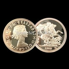 Great Britain Sovereign 1959 Gold Clad Coin