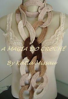 A MAGIA DO CROCHÊ: Cachecol Elos