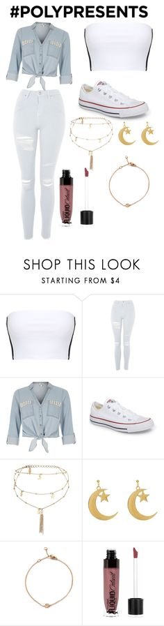 """""""#PolyPresents: Statement Jewelry"""" by alisoon02 on Polyvore featuring moda, Topshop, River Island, Converse, Ettika, Wet n Wild, contestentry y polyPresents"""