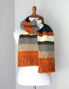 Frango Sampler Scarf | Whether you want to knit a scarf for yourself or to give as a gift, these knitted scarves are so addicting you wouldn't want to stop knitting!