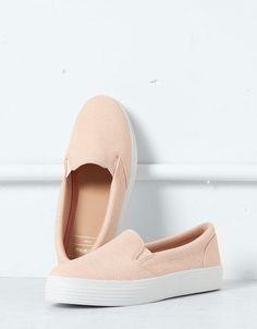 Tennis slip-on Bershka - Chaussures - Bershka France