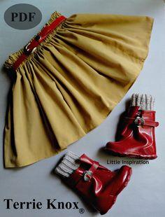Sewing Pattern Children, Sewing Pattern Skirt Girl,Kids Clothing , Pdf pattern tutorial ,great for beginners 1-5yrs