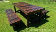 Table et bancs avec une grande finition 1