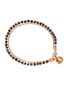 Astley Clarke Black Spinel Little Parcel Friendship Bracelet Gold Mangalsutra Designs, Gold Earrings Designs, Bracelet Designs, Gold Designs, Gold Jewelry Simple, Stylish Jewelry, Mangalsutra Bracelet, Diamond Mangalsutra, Girls Jewelry