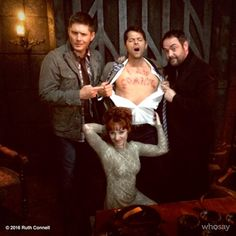 """""""My bloody chest reads, """"I am coming."""" I think the look on my face conveys that message. Watch #Supernatural tonight!"""""""