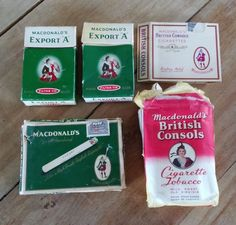 5 Export A British Consols Tobacco pack box not tin Cigar Cigarette