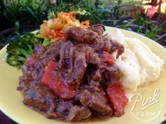 This is one of the simplest stews to make and is an absolutely delicious Royal Breakfast. It is one of those stews that doesn't take much time to prep but requires you to be at home as the pre-stewing and cooking takes time. Quick Beef Stew, Sauteed Greens, Vegetable Stew, Saute Onions, Main Meals, Slow Cooker, Dinner Recipes, Pumpkin, Warm