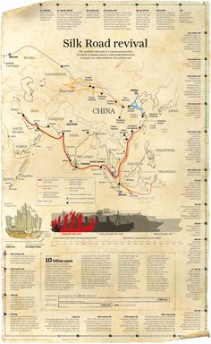 Silk road revival #silkroad #china #history | #Infographic repinned by @Piktochart | Create yours at www.piktochart.com