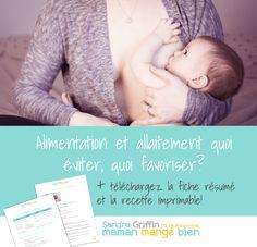 Alimentation et allaitement : quoi éviter, quoi favoriser? - Maman Mange Bien Foods To Avoid, Breast Feeding, Snack Recipes, Mom, Bebe