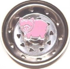 Cute Stainless Steel Kitchen sink Strainer Basket- this one is a Pig.  Also available at Zinger Hardware are: Cows, Frogs, Chilli Peppers, Bumble Bees, butterfly, Texas, Fleur De Lis, and many more.