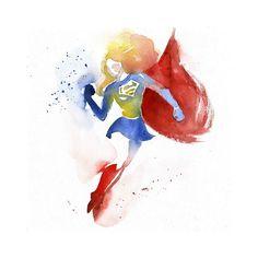 Os incríveis heróis de aquarela, por Blule - A francesa Clémentine, que assina suas obras como Blule, domina uma técnica de pintura bem antiga: a aquarela. A artista dá forma a vários heróis conhecidos, como Batman, Capitão América, Mulher Maravilha e até Mario Bros.