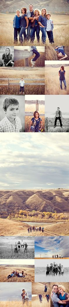 Pretty Outdoor Family Photo Session Ideas | Props | Prop | Sisters | Family | Brothers | Siblings