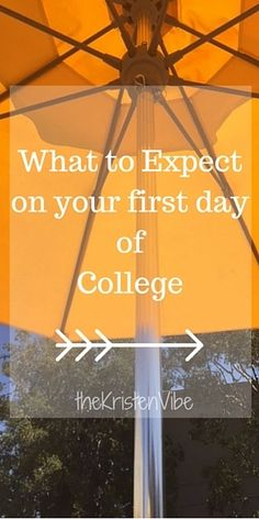 What to expect on the first day of college?