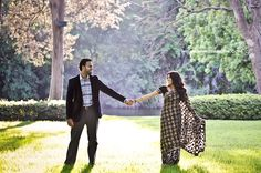 Indian engagement session saree