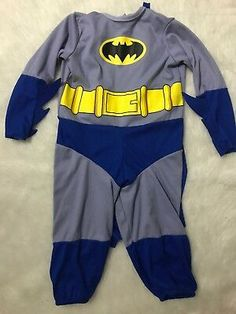 Batman Grey Gray Dark Knight Super Hero Child Costume Newborn 0-9 months