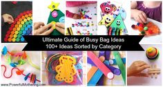 Ultimate Guide of Busy Bag Ideas - 100+ Ideas Sorted by Category